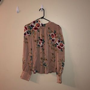 SHEIN floral blouse